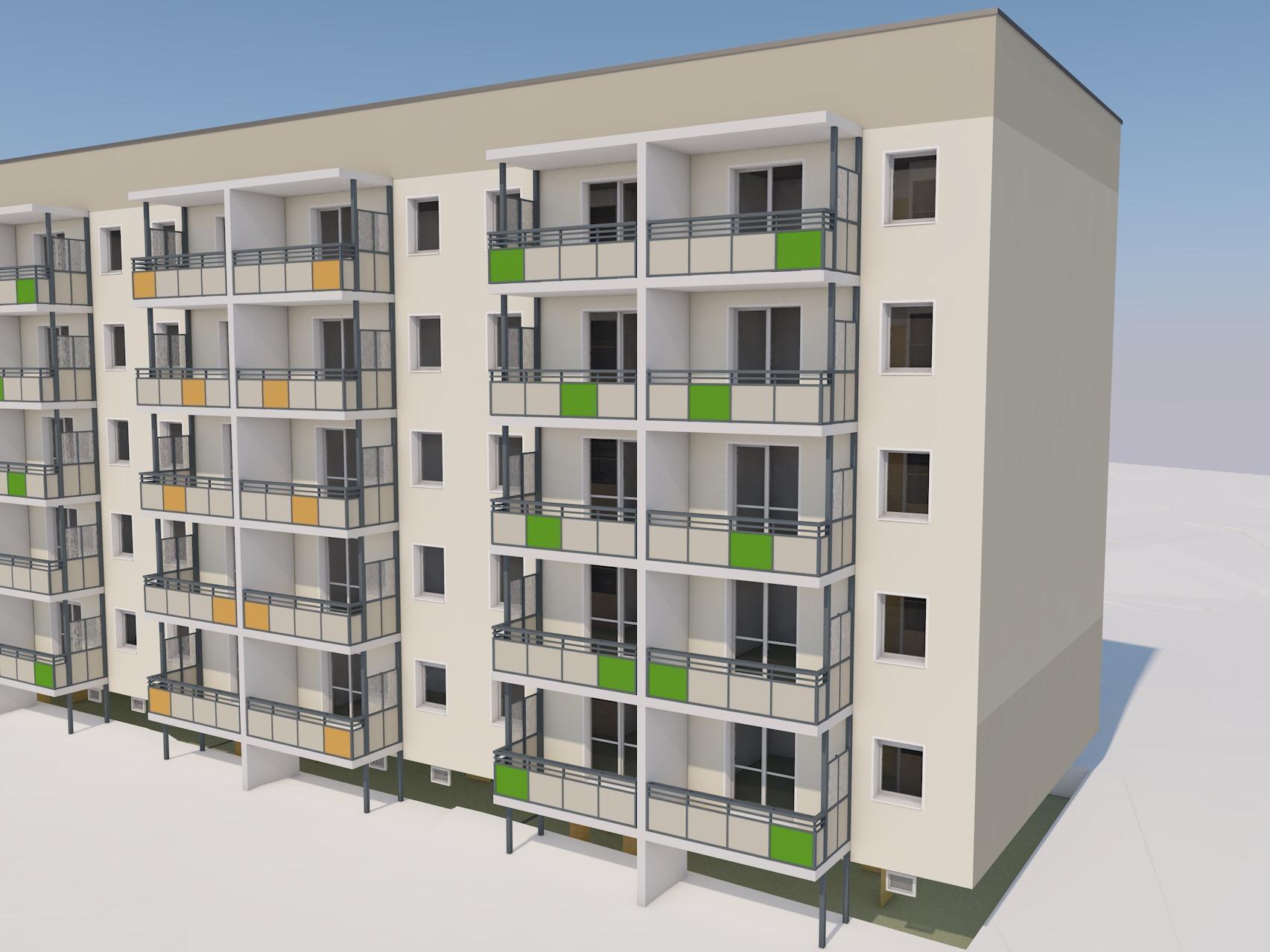Anbau von Balkonen